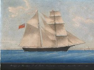 The Mary Celeste by an unknown artist.